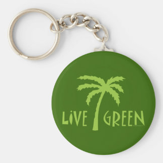 Porte-clés Palmier vert vivant ambiant