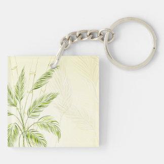 Porte-clés Palmiers sur le porte - clé en bambou de la forêt