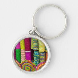 Porte-clés Paniers colorés au marché