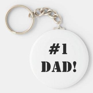 Porte-clés Papa de la fête des pères #1 ! Porte - clé