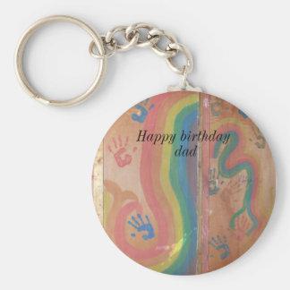 Porte-clés Papa-graphiques de joyeux anniversaire
