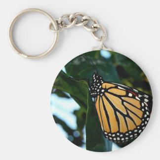 Porte-clés Papillon de monarque dans les lilas