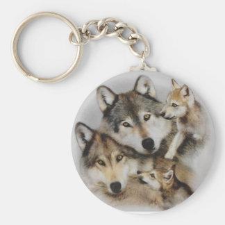 Porte-clés paquet de loups