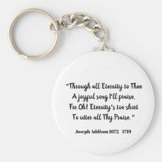 Porte-clés Par toute l'éternité à Thee (déclaration d'amour)