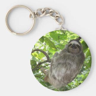 Porte-clés Paresse dans le porte - clé d'arbre