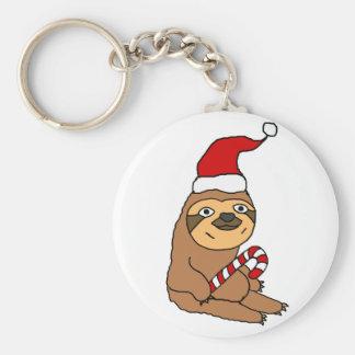 Porte-clés Paresse mignonne dans la bande dessinée de Noël de