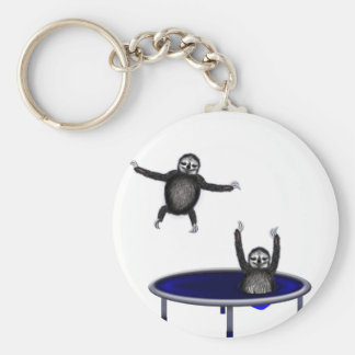 Porte-clés paresses trampolining
