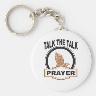 Porte-clés parlez la prière d'entretien ouais