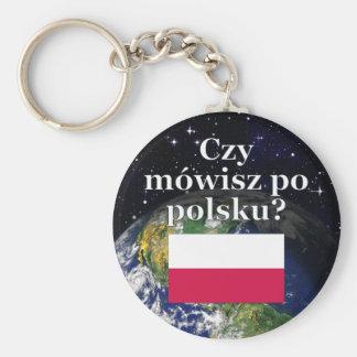 Porte-clés Parlez-vous polonais ? dans le polonais. Drapeau