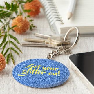 Porte-clés Parties scintillantes bleues