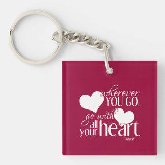 Porte-clés Partout où vous allez, allez de pair avec tout