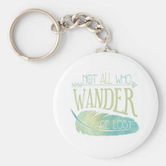 Porte-clés Pas tous ce que Wander sont perdu