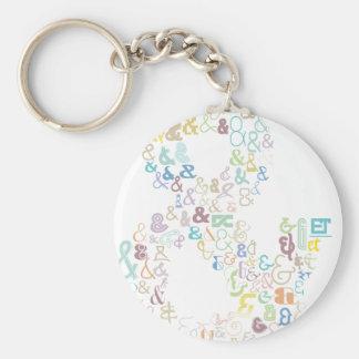 Porte-clés Pastels d'esperluète