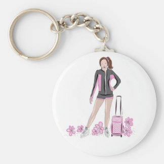 Porte-clés Patineur artistique avec le sac de Zuka