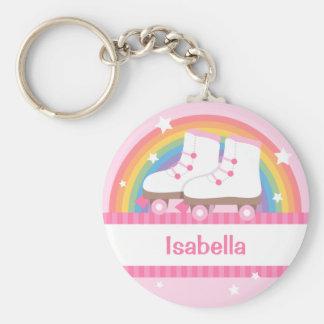 Porte-clés Patins de rouleau d'arc-en-ciel pour des filles