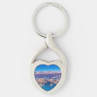 Porte-clés Paysage de lac et de montagnes, Patagonia, Chili