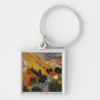 Porte-clés Paysage de Vincent van Gogh | avec la Chambre et
