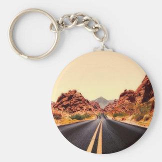 Porte-clés Paysage de voyage de route de route de montagnes