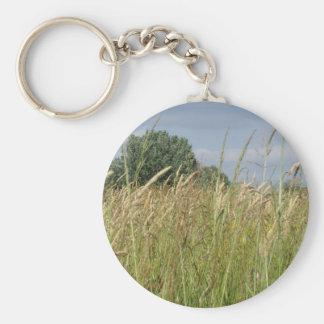 Porte-clés Paysage d'été de champ sauvage dans la campagne