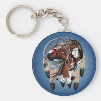 Porte-clés Peignez le porte - clé de Dreamcatcher de cheval