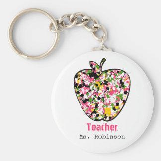 Porte-clés Peignez le porte - clé de professeur d'Apple