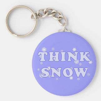 Porte-clés Pensez le porte - clé de neige