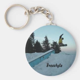 Porte-clés Pensionnaire de neige de style libre
