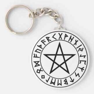 Porte-clés pentagramme de Rune de porte - clé