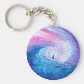 Porte-clés Perdu dans les vagues, amusement de conception de