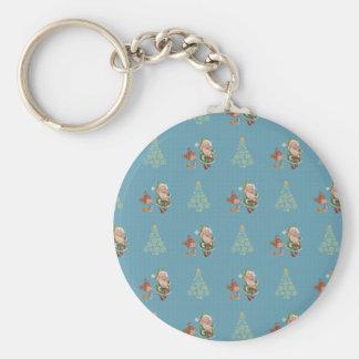 Porte-clés Père Noël a attrapé manger des biscuits
