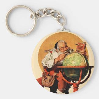 Porte-clés Père Noël au globe