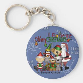 Porte-clés Père Noël et la bande