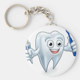 Porte-clés Personnage de dessin animé de mascotte de dent