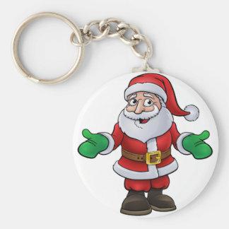 Porte-clés Personnage de dessin animé de Noël du père noël