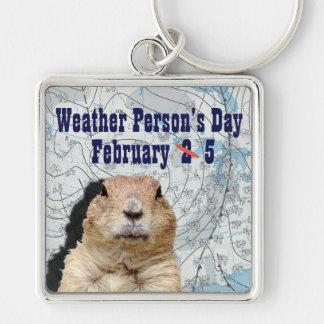 Porte-clés Personne de temps jour 5 février national