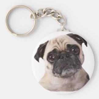 Porte-clés petit chien mignon de carlin