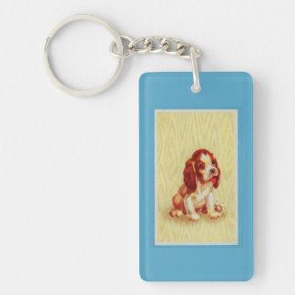 Porte-clés petit chiot mignon de beagle