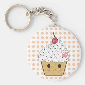 Porte-clés Petit gâteau de Kawaii en pois