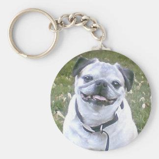 Porte-clés Petit porte - clé de chien de carlin