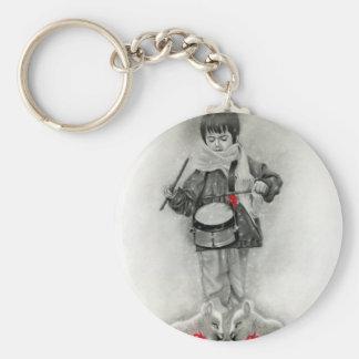 Porte-clés Petit porte - clé de garçon de batteur