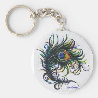 Porte-clés Petit porte - clé de plume de paon