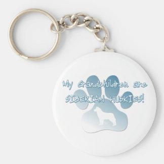 Porte-clés Petits-enfants de chien de traîneau sibérien