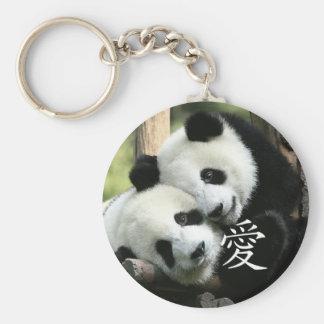 Porte-clés Petits pandas géants affectueux chinois