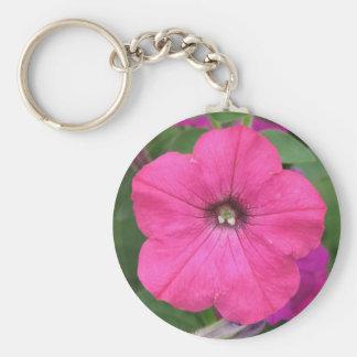 Porte-clés Pétunia rose