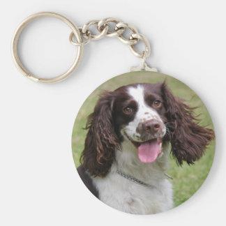 Porte-clés Photo de chien d'épagneul de springer anglais