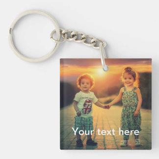Porte-clés Photo et texte faits sur commande