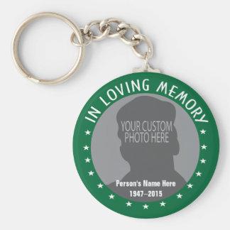 Porte-clés Photo faite sur commande et étoiles de souvenir
