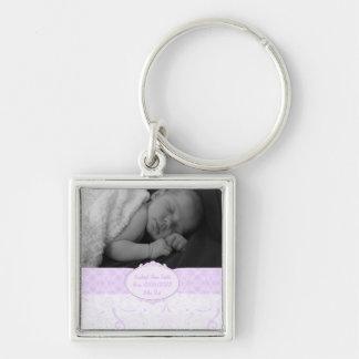 Porte-clés Photo tourbillonnante rose de bébé de dentelle