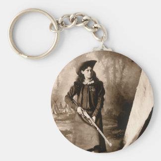 Porte-clés Photo vintage de Mlle Annie Oakley Holding un