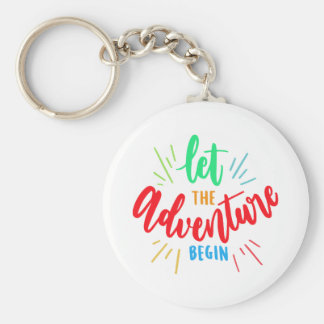 Porte-clés Phrase Let the adventure begin